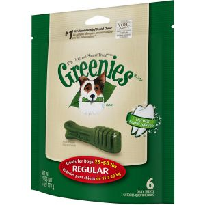 I247310-Greenies Original Smart Treat 6 Pack Regular Dog Treats 170g