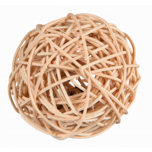 I159630-Trixie Wicker Ball With Bell 4cm