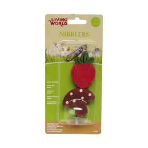 I159937-Living World Strawberry & Mushroom On A Stick Small Pet Chews
