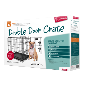 I248059-Yours Droolly Double Door Dog Crate 30 Inch 76lx48wx53h