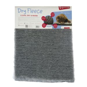 I248047-Yours Droolly Dog Bed Dry Fleece 53cm X 76cm Grey