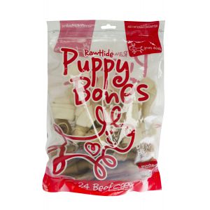 I163276-Yours Droolly Rawhide 24 Pack Puppy Treats