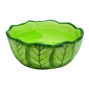 I248894-Kaytee Vege-t-bowl Cabbage Ceramic Bowl- Medium