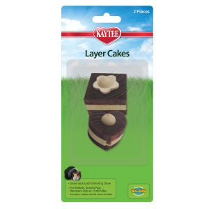 I165124-Kaytee Layer Cakes Chew Toy 2pk