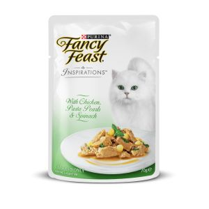 I247605-Fancy Feast Inspirations Chicken Pasta Pearls & Spinach 70g
