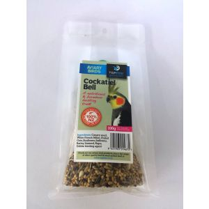 I168672-Topflite Cockatiel Seed Bell 100g