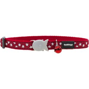 I169765-Red Dingo Cat Collar Stars White On Red.