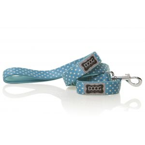 I170002-Doog Snoopy Blue & White Polkadots Dog Lead