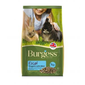 I171208-Burgess Excel Junior & Dwarf Rabbit Nuggets With Mint 2kg