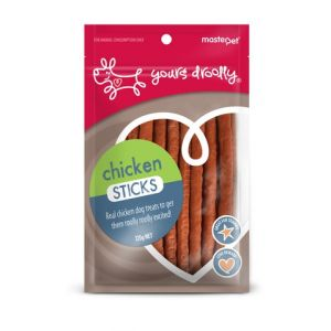 I171729-Yours Droolly Chicken Sticks Dog Treats 120g
