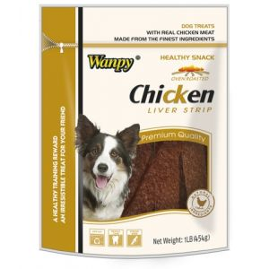 I249241-Wanpy Chicken Liver Strip Dog Treat 454g