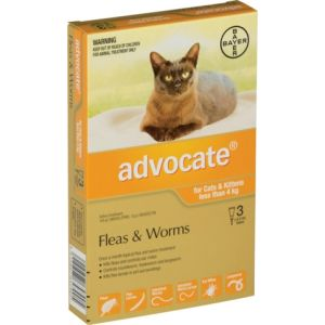 I246809-Advocate Flea Treatment For Cats Under 4kg - 3 Pack