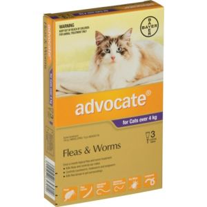 I246810-Advocate Flea Treatment For Cats Over 4kg - 3 Pack
