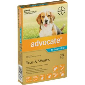I188194-Advocate Flea Treatment For Dogs 4-10kg - 3 Pack