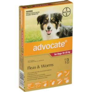 I246811-Advocate Flea Treatment For Dogs 10-25kg - 3 Pack