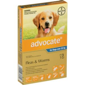 I207850-Advocate Flea Treatment For Dogs Over 25kg - 3 Pack