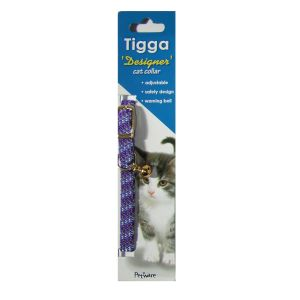 I119508-Tigga Cat Collar Reflect Lavender