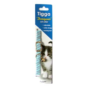 I119509-Tigga Cat Collar Reflect Light Blue