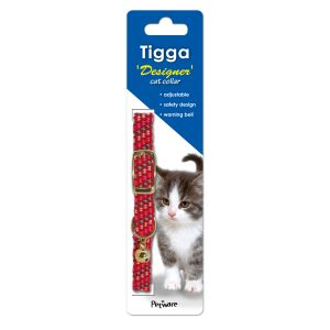 I119512-Tigga Cat Collar Reflect Red