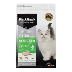 I237611-Black Hawk Chicken Kitten Food 3kg