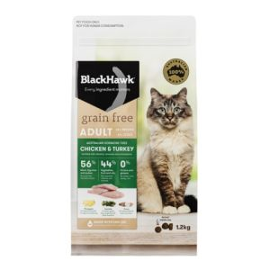 I237621-Black Hawk Grain Free Chicken & Turkey Cat Food 1.2kg