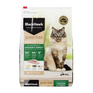 I237623-Black Hawk Grain Free Chicken & Turkey Cat Food 6kg
