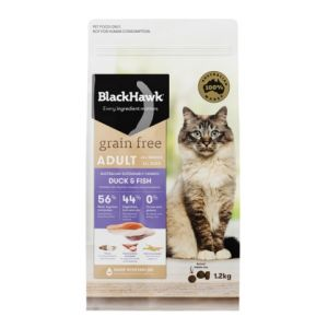 I237624-Black Hawk Grain Free Duck & Fish Cat Food 1.2kg