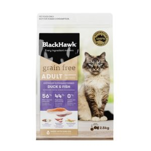 I237625-Black Hawk Grain Free Duck & Fish Cat Food 2.5kg