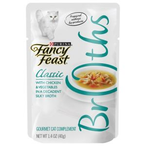 I239038-Fancy Feast Broths Chicken & Veges Cat Food 40g