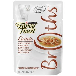 I239039-Fancy Feast Broths Chicken, Whitefish And Veges Cat Food 40g