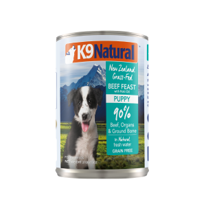 I248621-K9 Natural Beef & Hoki Canned Puppy Food 370g