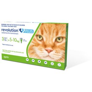 I241526-Revolution Plus Cat >5kg - 10kg Green 3pk