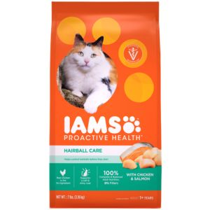 I241802-Iams Proactive Health Adult Cat Food Hairball Care Chicken & Salmon 3.18kg