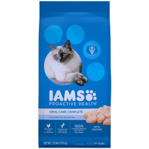 I241803-Iams Proactive Health Adult Cat Food Oral Care Complete Chicken 1.59kg