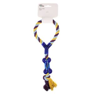 I241791-You & Me Dog Rope With Chewing Bone Toy 40cm