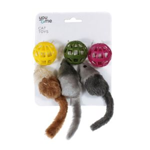I241794-You & Me 6 Piece Cat Toy Set