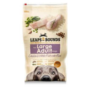 I242135-Leaps & Bounds Chicken And Fish Large Breed Adult Dog Food 15kg