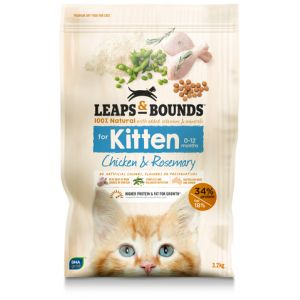 I242144-Leaps & Bounds Chicken And Rosemary Kitten Food 3.2kg