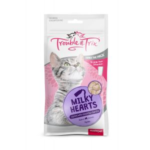 I243738-Trouble & Trix Milky Heart Cat Treat 70g