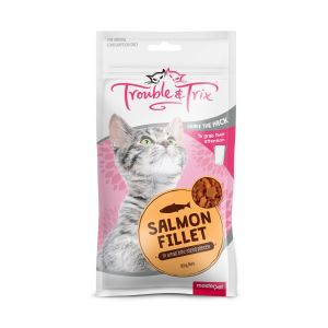 I243741-Trouble & Trix Salmon Fillet Cat Treat 85g