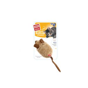 I251068-Gigwi Pet Droid Activity Mouse Cat Toy Khaki/brown