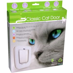 I143619-Petcorp Cat Door For Use In Wood & Glass