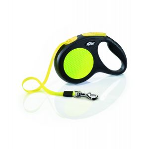 I249538-Flexi New Classic 5m Neon Medium Retractable Lead Tape.