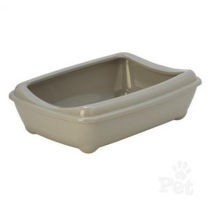 I248268-Aristotray Warm Grey Anti Spill Litter Tray 50cm