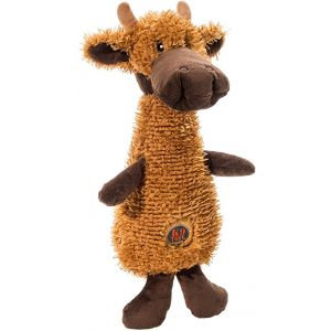 I249299-Charming Scruffles Moose Dog Toy Small