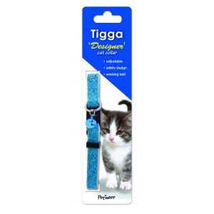 I161857-Tigga Cat Collar Glitter Blue