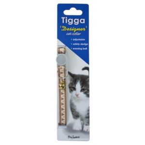 I252000-Tigga Cat Collar Triangle Brown 10x200-330mm