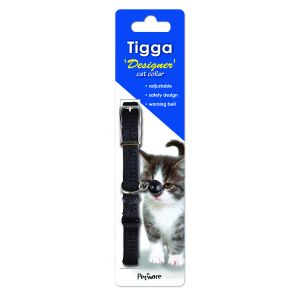 I119539-Tigga Cat Collar Foot Print Black