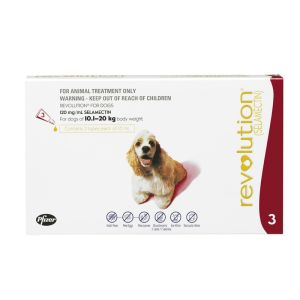 I246828-Revolution Flea Treatment For Dogs 10-20kg - 3 Pack