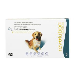 I246829-Revolution Flea Treatment For Dogs 20-40kg - 3 Pack